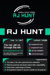 Angelz Chat Room RJ Hunt | Apply for rj